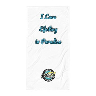 Toalla I Love Efoiling in Paradise Jet Surf Canary