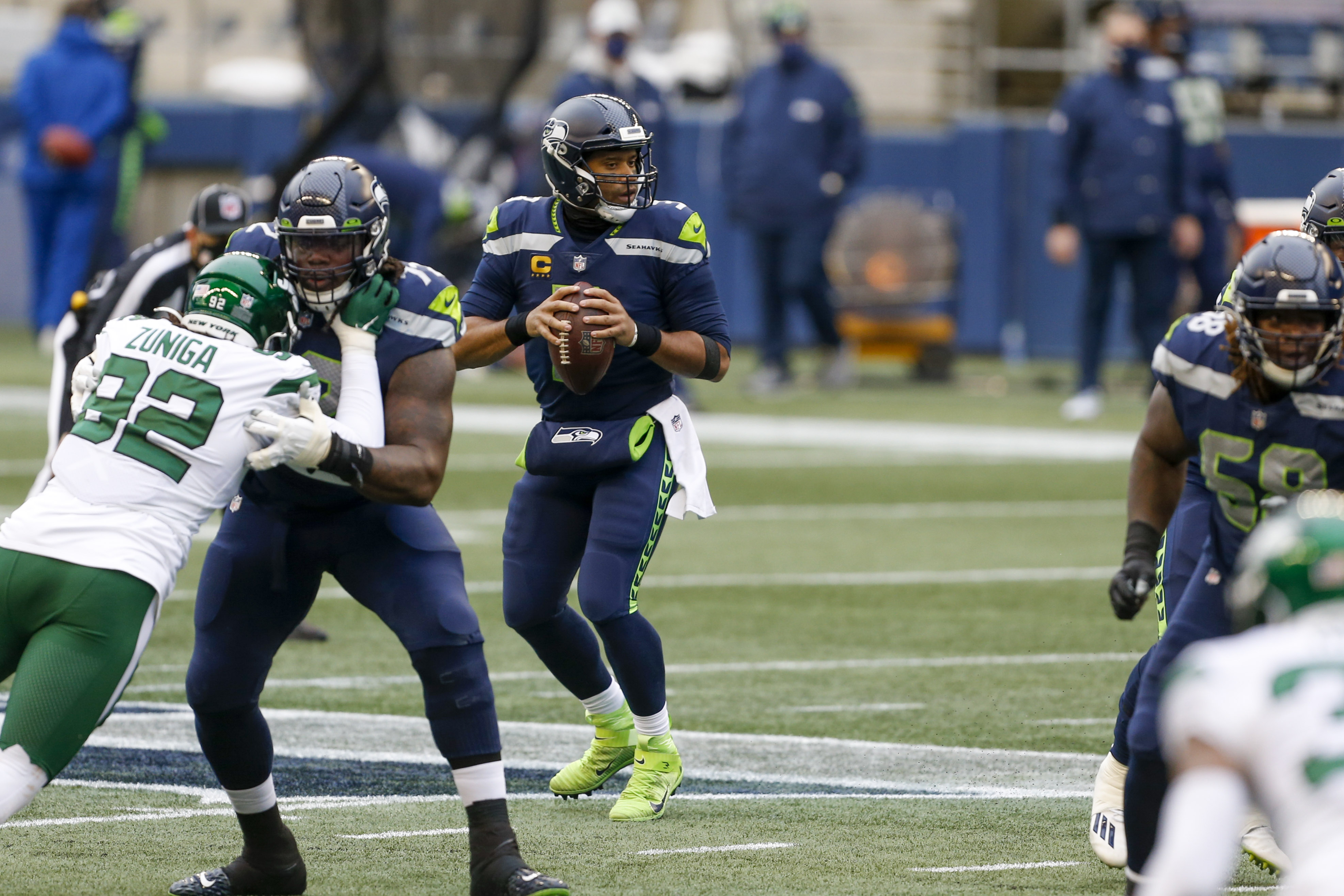 Report: Jets among teams linked to Russell Wilson-Seahawks trade rumors