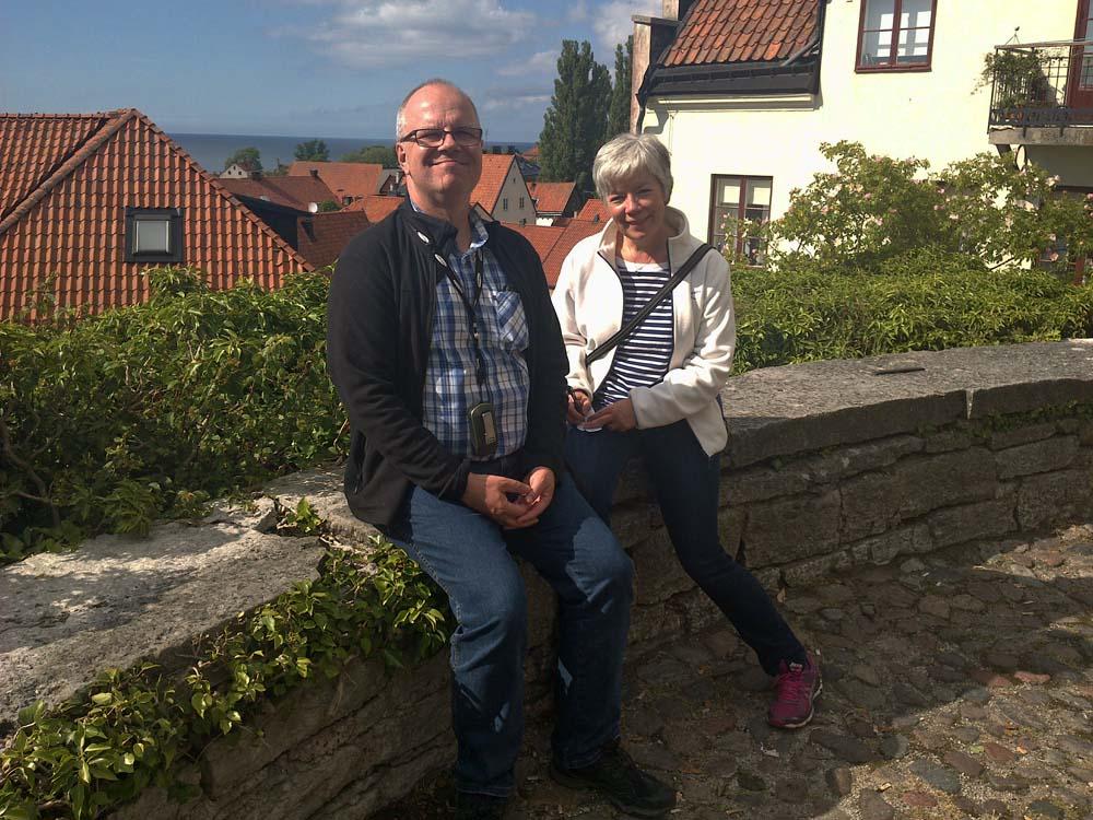 Go bild på vårt värdpar i Visby. Tack för trevliga dagar Peter & Gunbritt