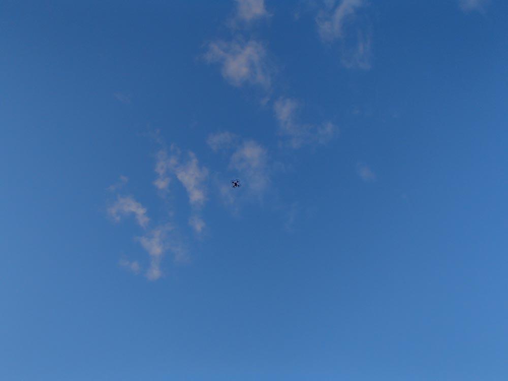 Så högt vågade inte jag flyga, men Mackan hade kontroll...