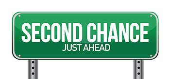 road sign with a second chance
