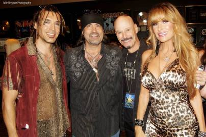 "2013 Vegas Rocks Music Awards Jason Ebs, Danny ""The Count"" Koker, Bob Kulick, & Janea Ebswoth"