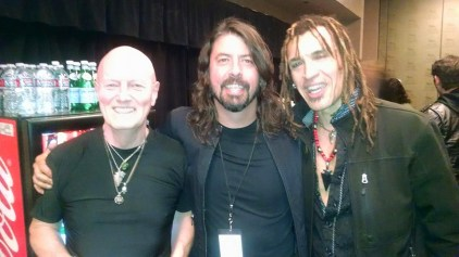 Chris Slade, Dave Grohl & Jason Ebs