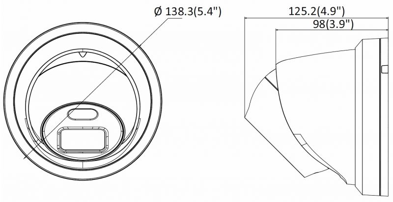 Hikvision CAMERA IP M/PIXEL EXT D/N IR 4M 4mm turr DS