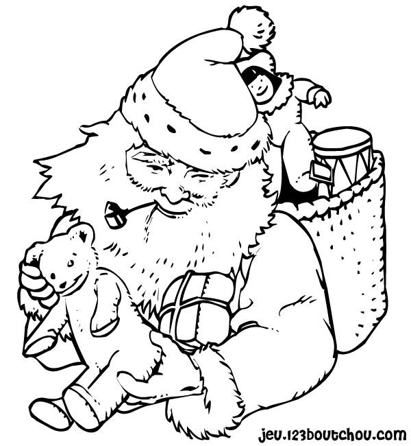 coloriage Noël hello kitty et bonbons à imprimer