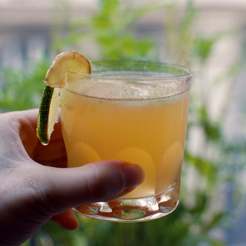 notre cocktail rhum gingembre jeune