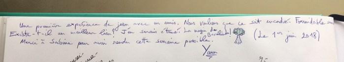 Commentaire de Yann