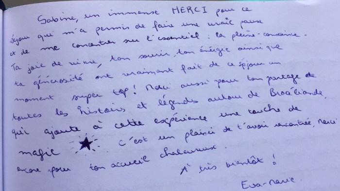 Commentaire de Eva-Marie