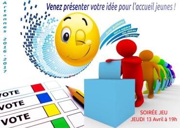 """Affiche de la soirée """"Ma proposition pour l'Accueil Jeunes d'Artannes"""""""