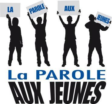 Affiche sur laquelle il est inscrit : La parole aux jeunes !