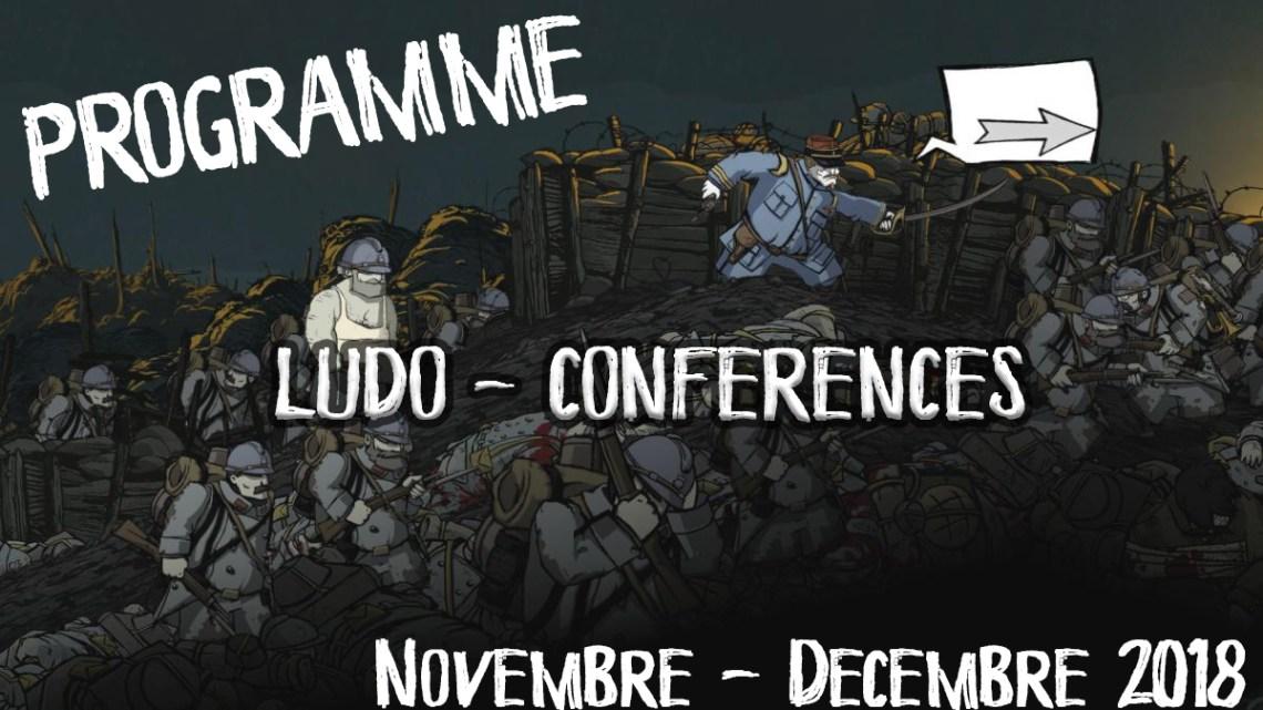 Programme ludo-conférences (Nov-dec 2018)