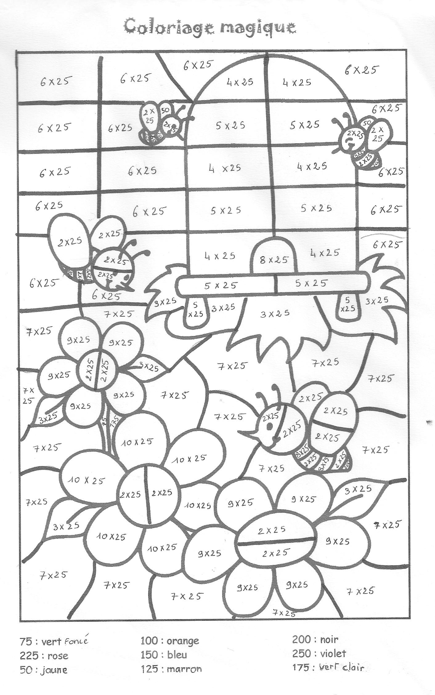 times tables coloring pages