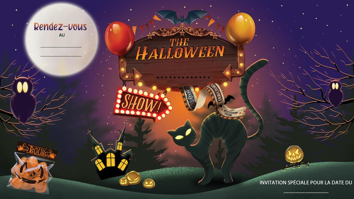 Carton d'Invitation Halloween Gratuit