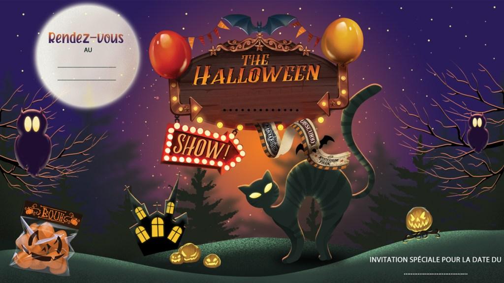 carton ticket invitation halloween