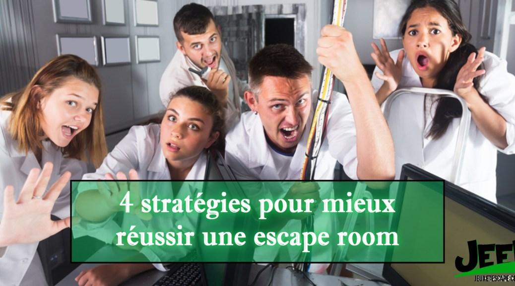 4 stratégies pour réussir son escape room