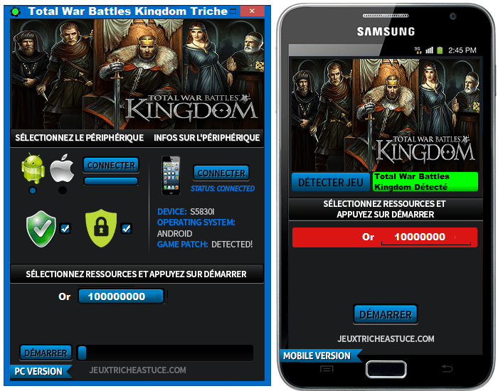Total War Battles Kingdom Tricks & Tips Features and Information: – Gold and Silver Online Resources Generator – Easy to use available interface – Automatic updates to ensure the Tricks & Tips is in charity. – Tested by many people. And a lot of creators of hacks. – No root or jailbreak required.