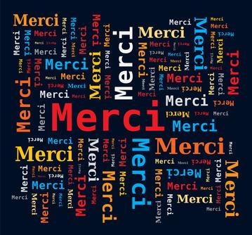 Nuage de Mots en Français - Merci