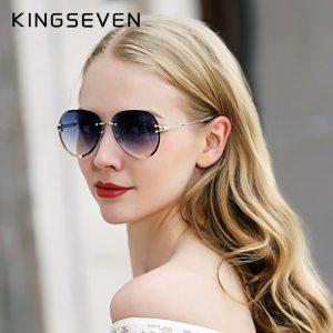 Vintage Fashion Sun glasses Rimless Women Sunglasses Gradient Lens