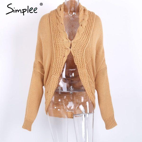 Winter shrug knitted sweater cardigan Women