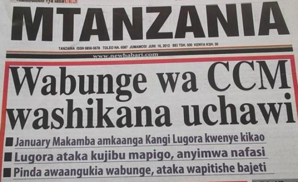 Magazeti ya Mtanzania na Mwananchi zafungiwa.