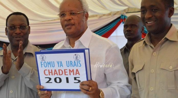 Lowassa Kuchukua Fomu ya Kugombea Urais CHADEMA