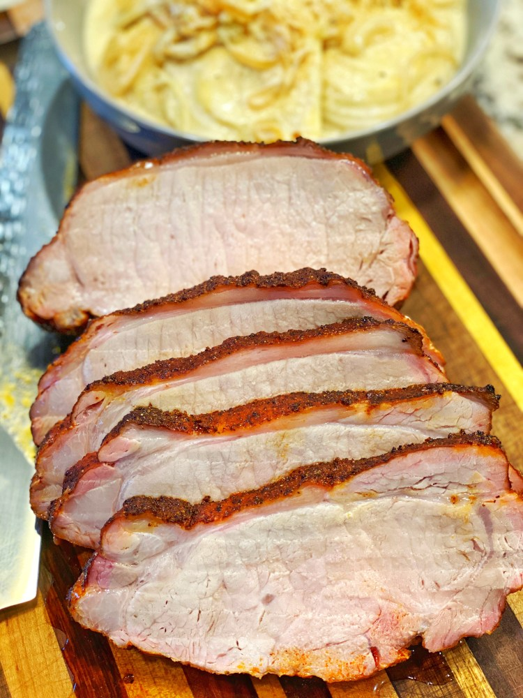 Perfectly cooked pork loin roast
