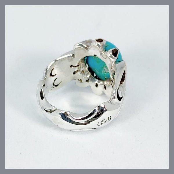 Natural Nishapuri Feroza Ring 925 Silver buy online in Pakistan