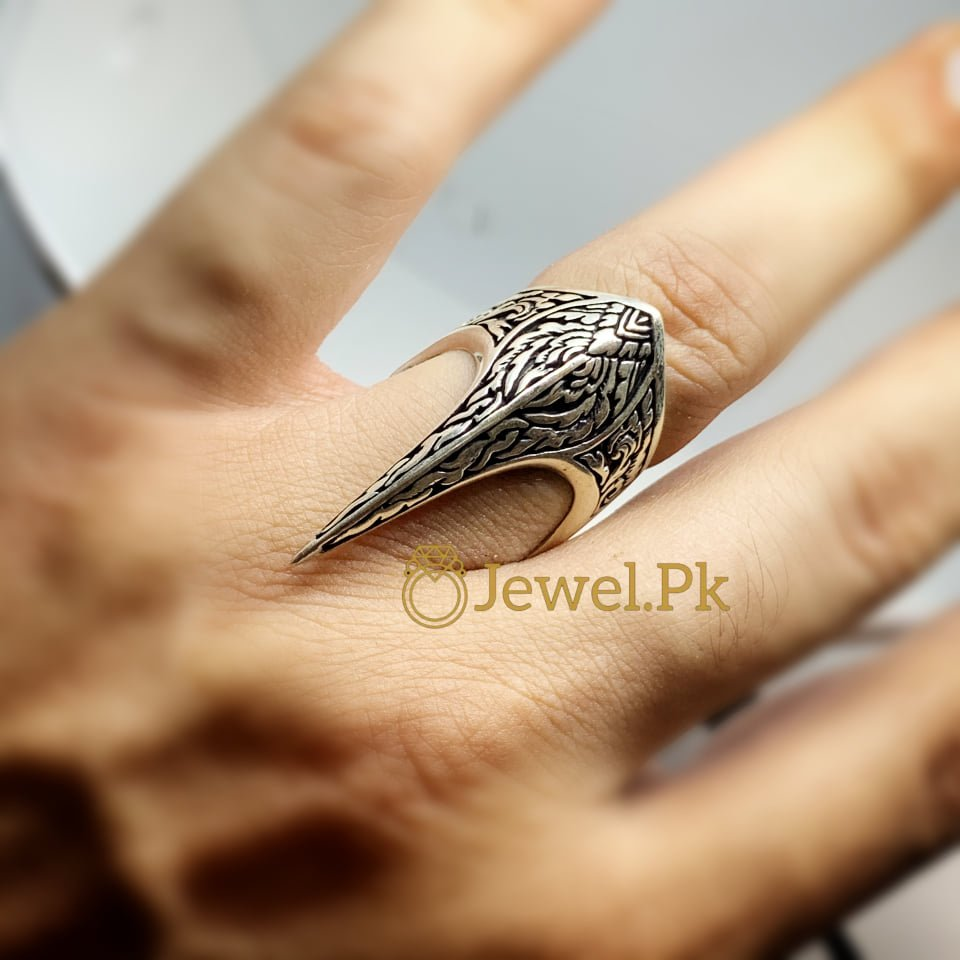 Spartacus Ring for Boys Men 2 natural gemstones pakistan + 925 silver jewelry online