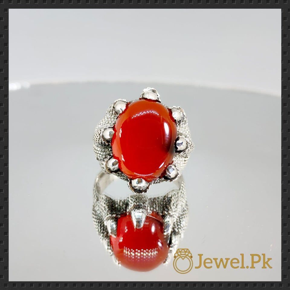 Natural Agate Rings 925 Silver Aqeeq Ring Chandi Ring Brown Aqeeq Agate 12