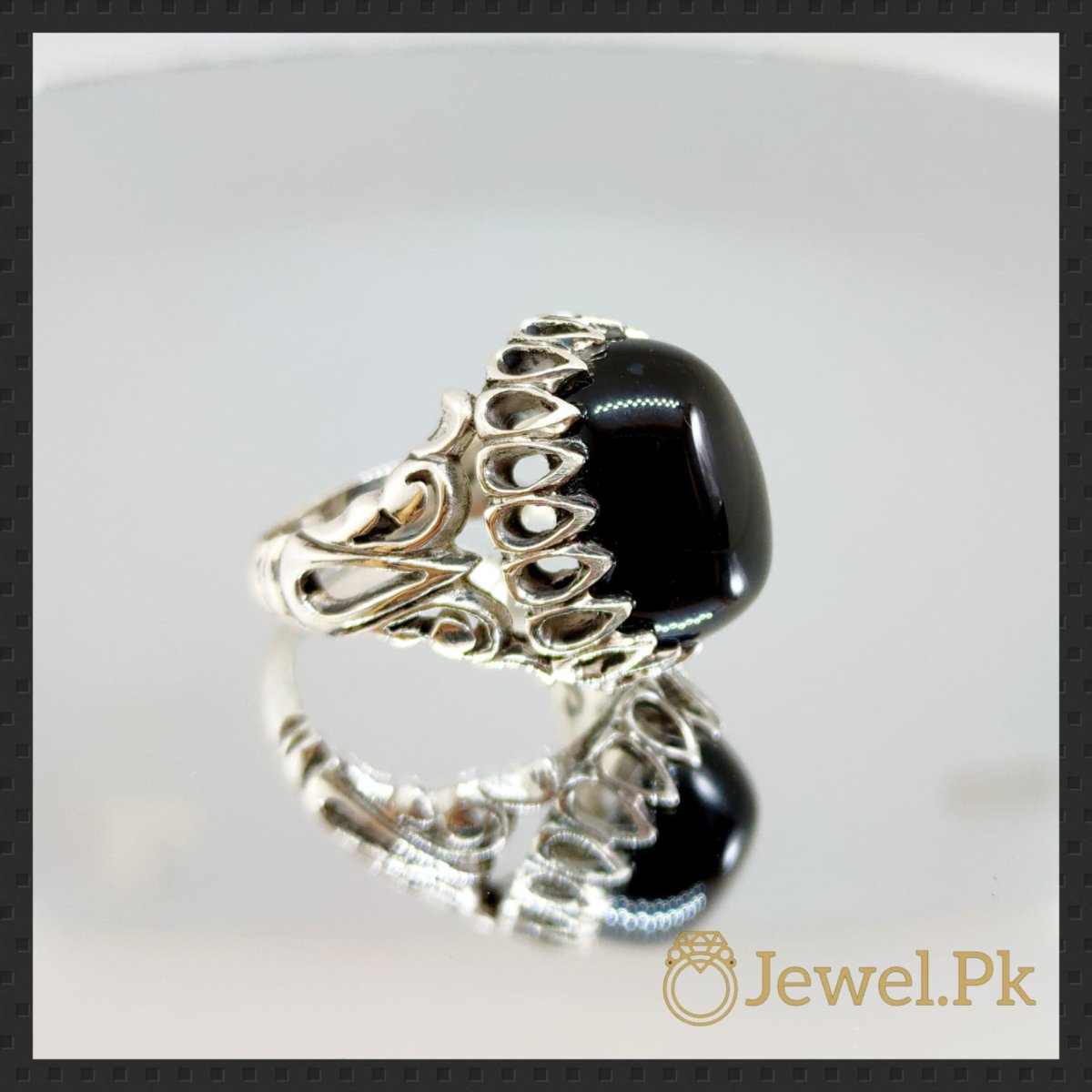 Silver 925 Chandi Ring in Agate - Aqeeq Ring