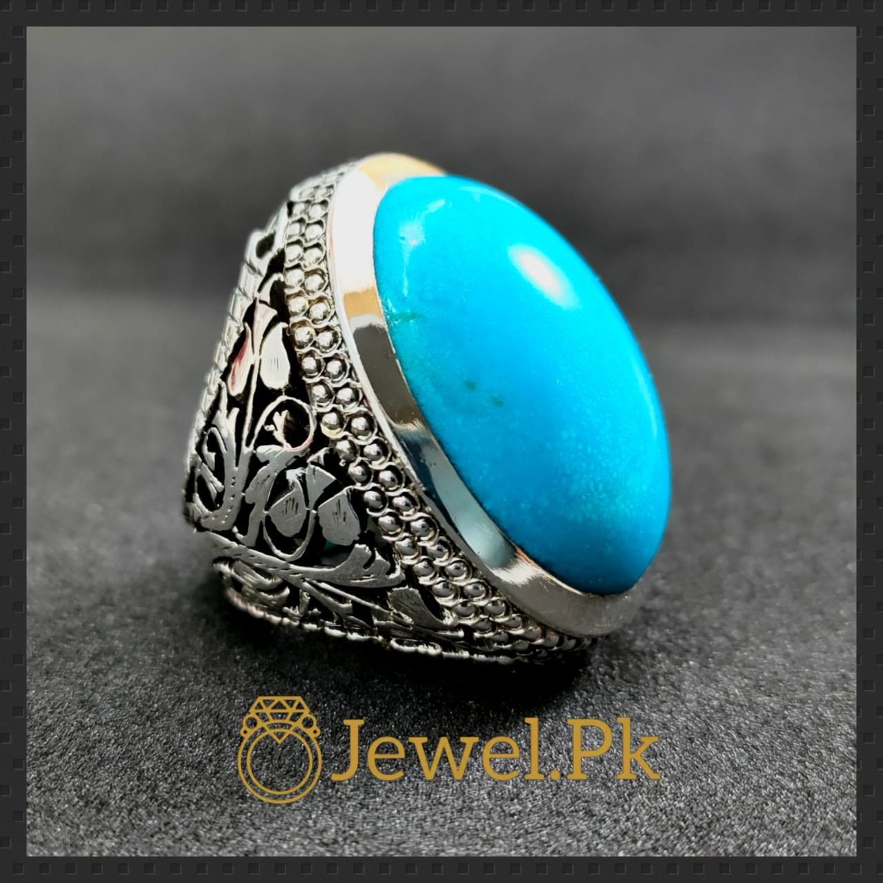 Natural Turquoise - Nishapuri Feroza Rings + 925 Master piece of silver rings