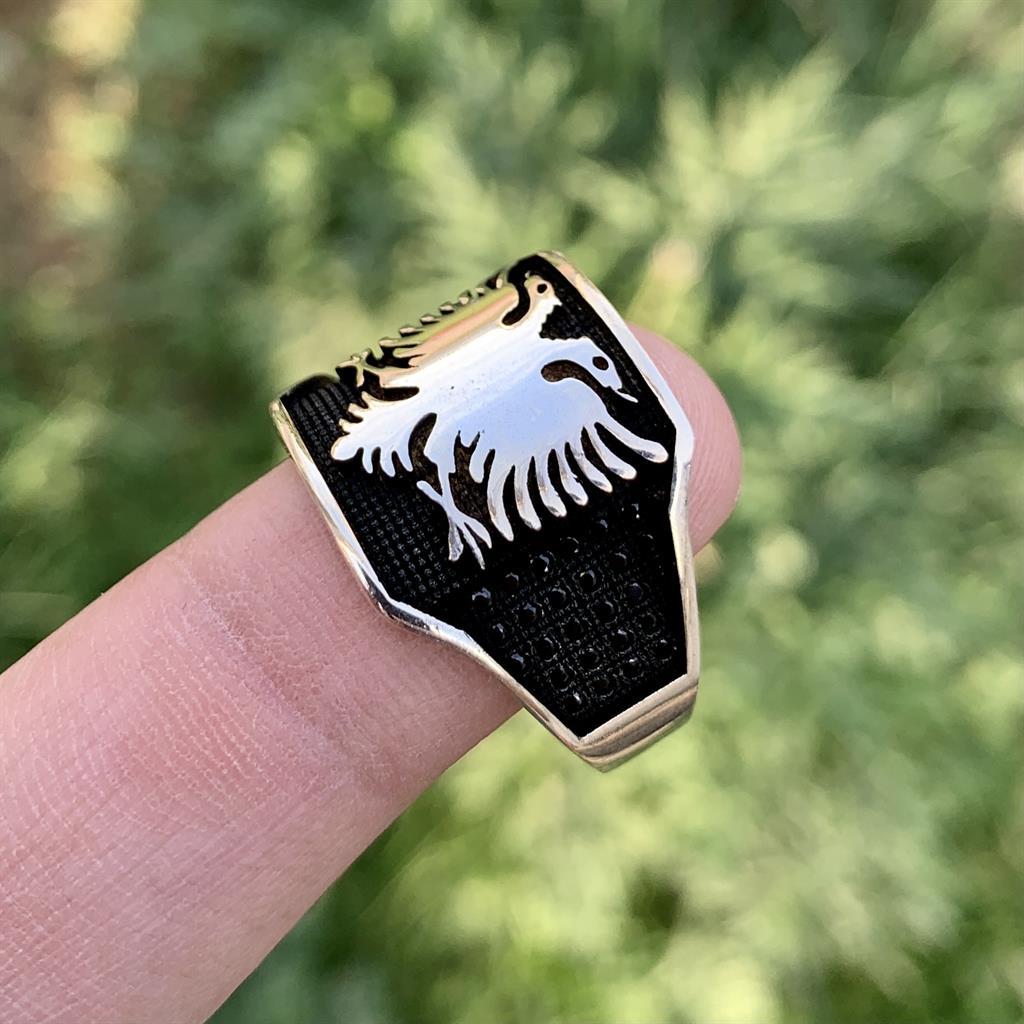 Ertugrul Silver Ring 925 Chandi turkish ring