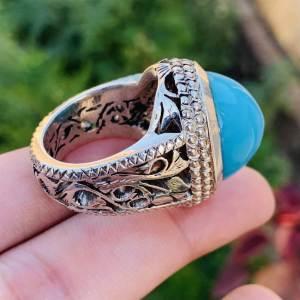 Nishaburi Feroza - Nishapuri Feroza Turquoise - 925 Handmade ring