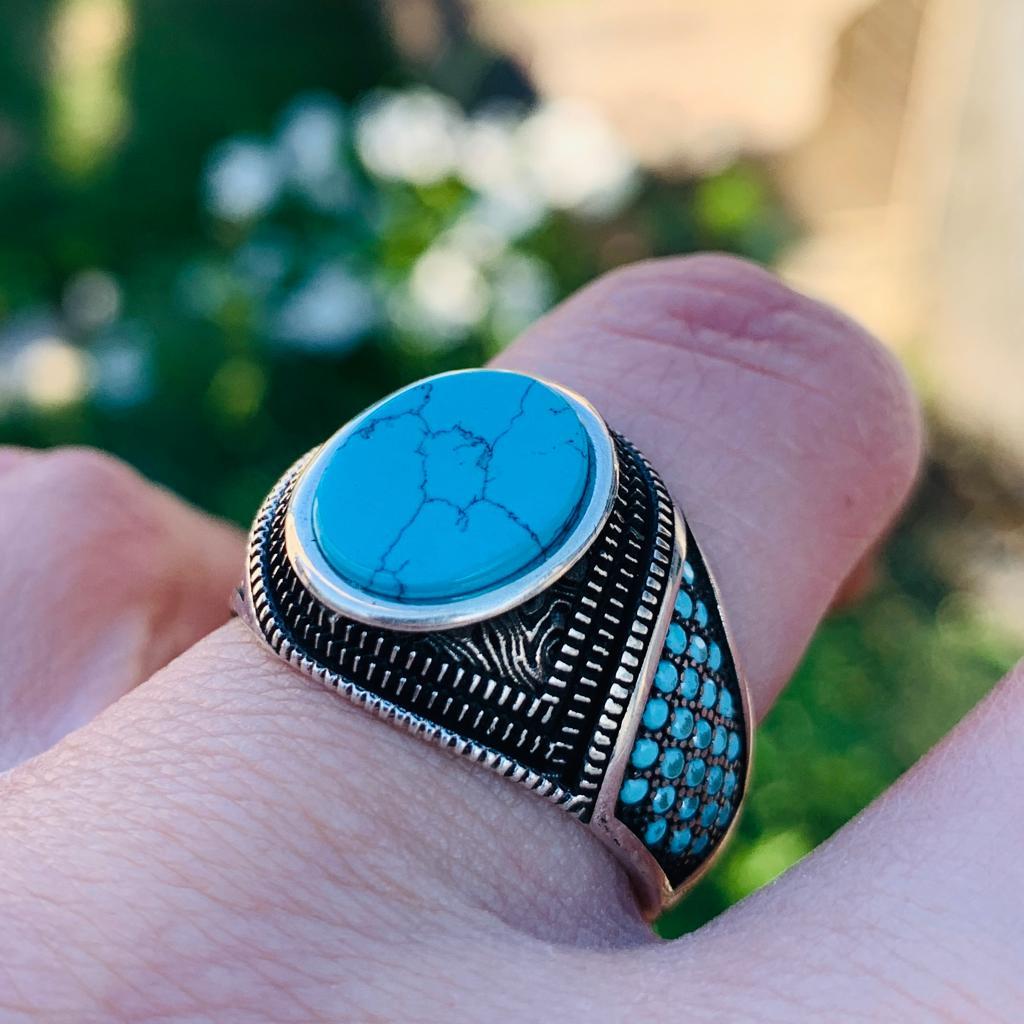 Turkish Ring Beautiful 925 Silver handmade