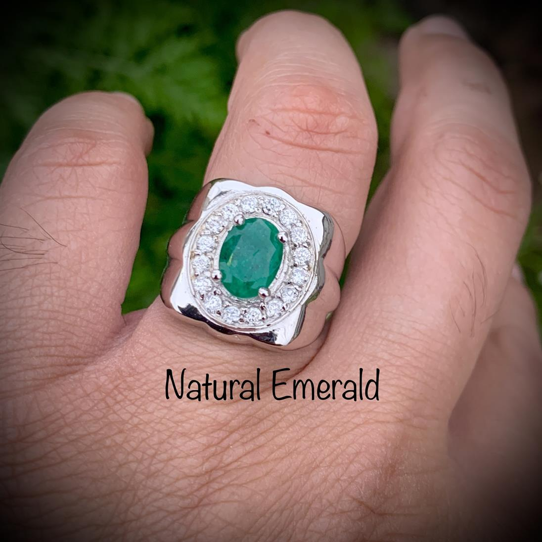 Natural Emerald Ring 102 1 natural gemstones pakistan + 925 silver jewelry online