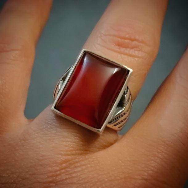 Turkish Aqeeq Ring Silver 925 3 1 natural gemstones pakistan + 925 silver jewelry online