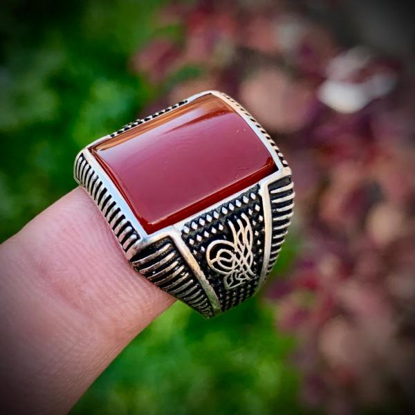 Turkish Yemeni Aqeeq Ring