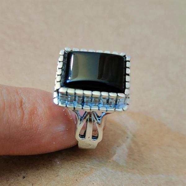 Black Aqeeq Ring