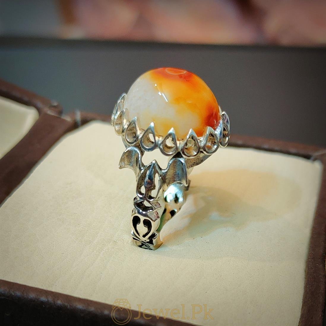 Eye Agate Ring - Aqeeq Ring