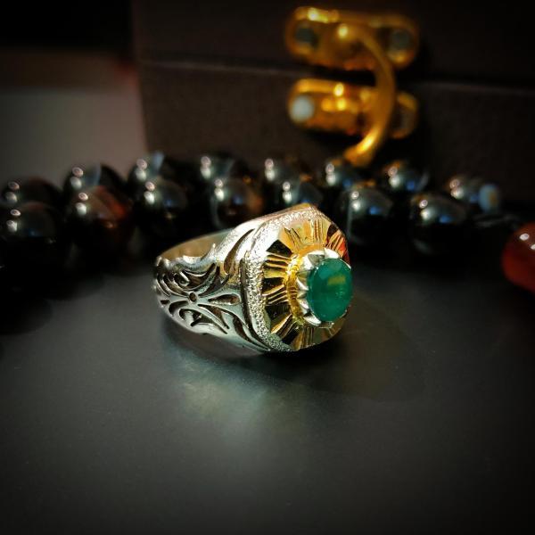 natural zambian emerald zamurd ring