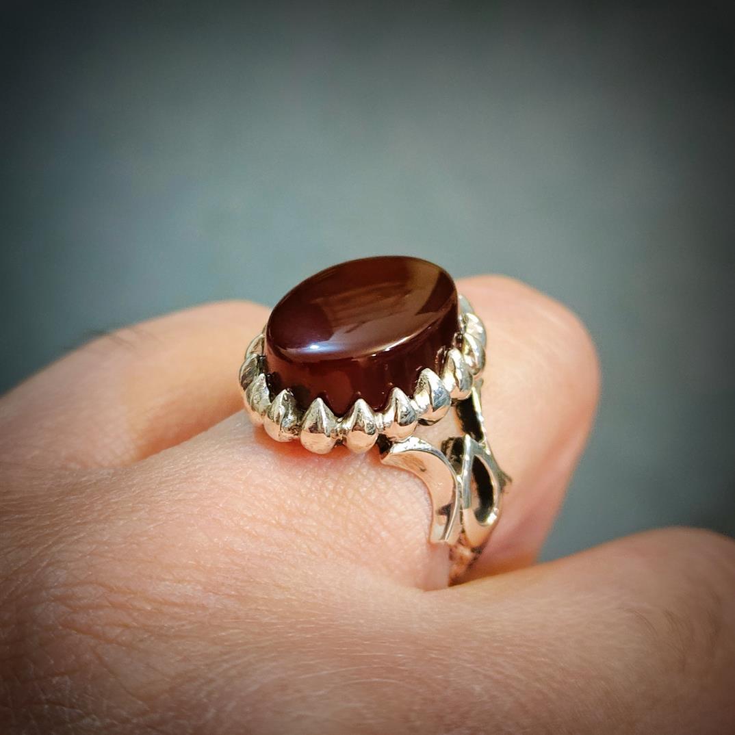 Yemeni Aqeeq Ring + Yamni Aqiq + Haqiq Rings + 925 Silver Handmade Rings Yemeni Agate