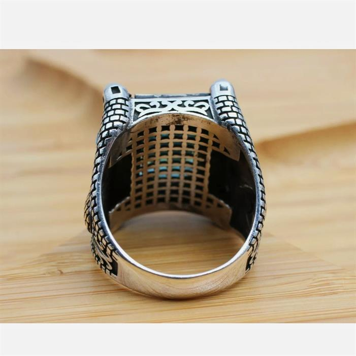 Turkish Ring 925 Sterling Silver Amazing Stunning Onyx Rings 9 natural gemstones pakistan + 925 silver jewelry online