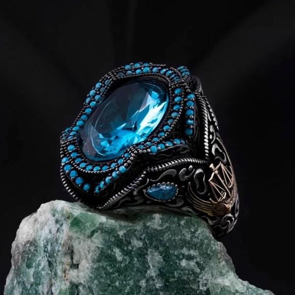 925 Silver Turkish Ring - Ottoman Ring