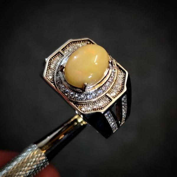Natural Opal Ring + Italian Ring