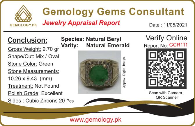 GCR111 1 natural gemstones pakistan + 925 silver jewelry online