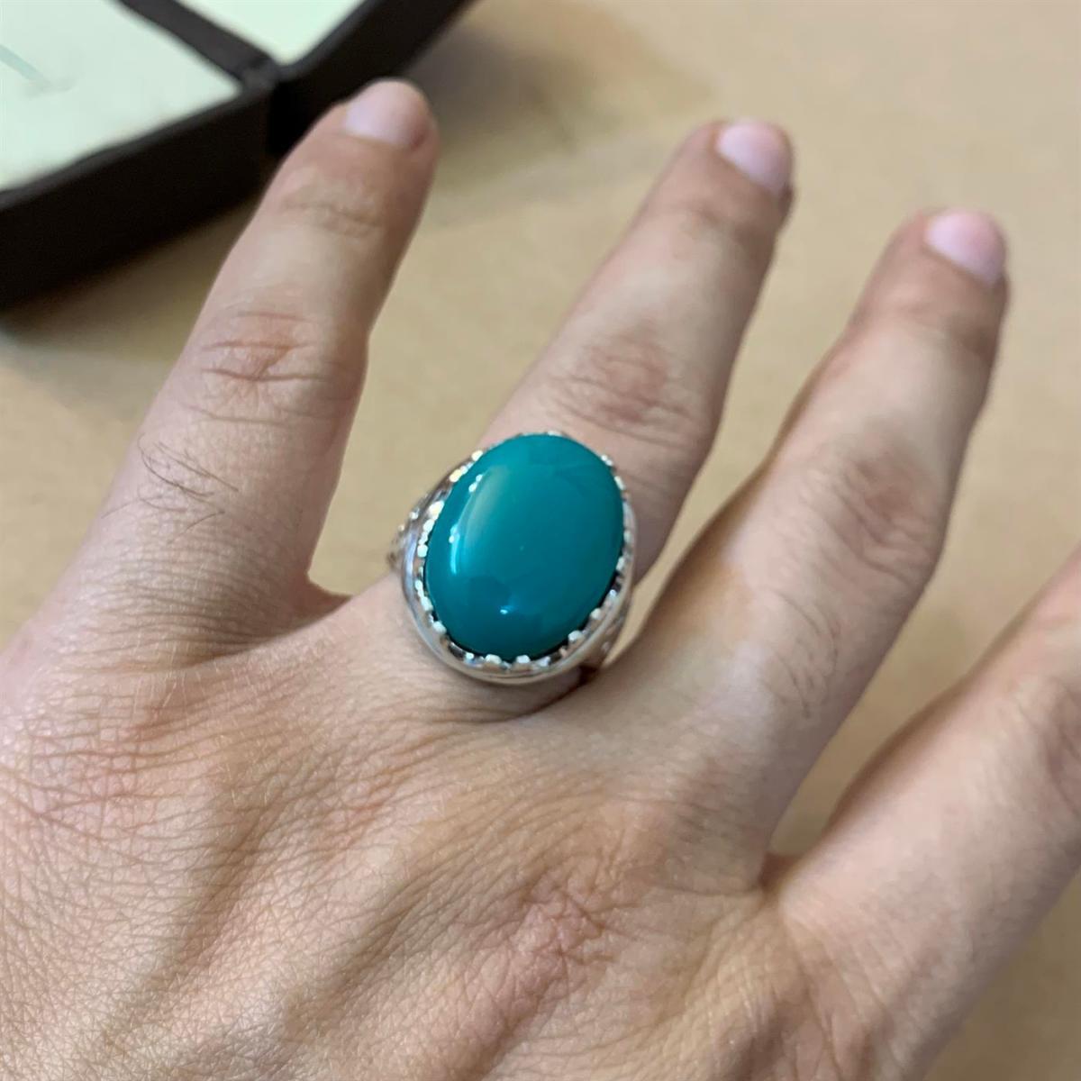 Green Hussaini Turquoise 4 natural gemstones pakistan + 925 silver jewelry online