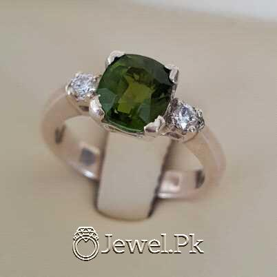 Natural Emerald Zamurd Stone with Pure Silver 925 Chandi 20 natural gemstones pakistan + 925 silver jewelry online