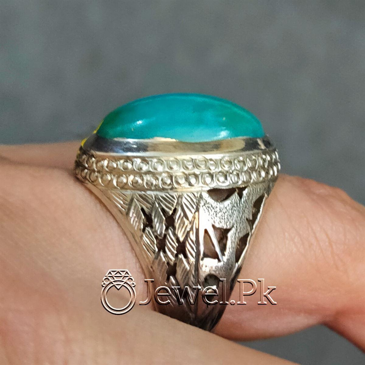 Natural Hussaini Feroza Green Turquoise Nishapuri Feroza 6 natural gemstones pakistan + 925 silver jewelry online