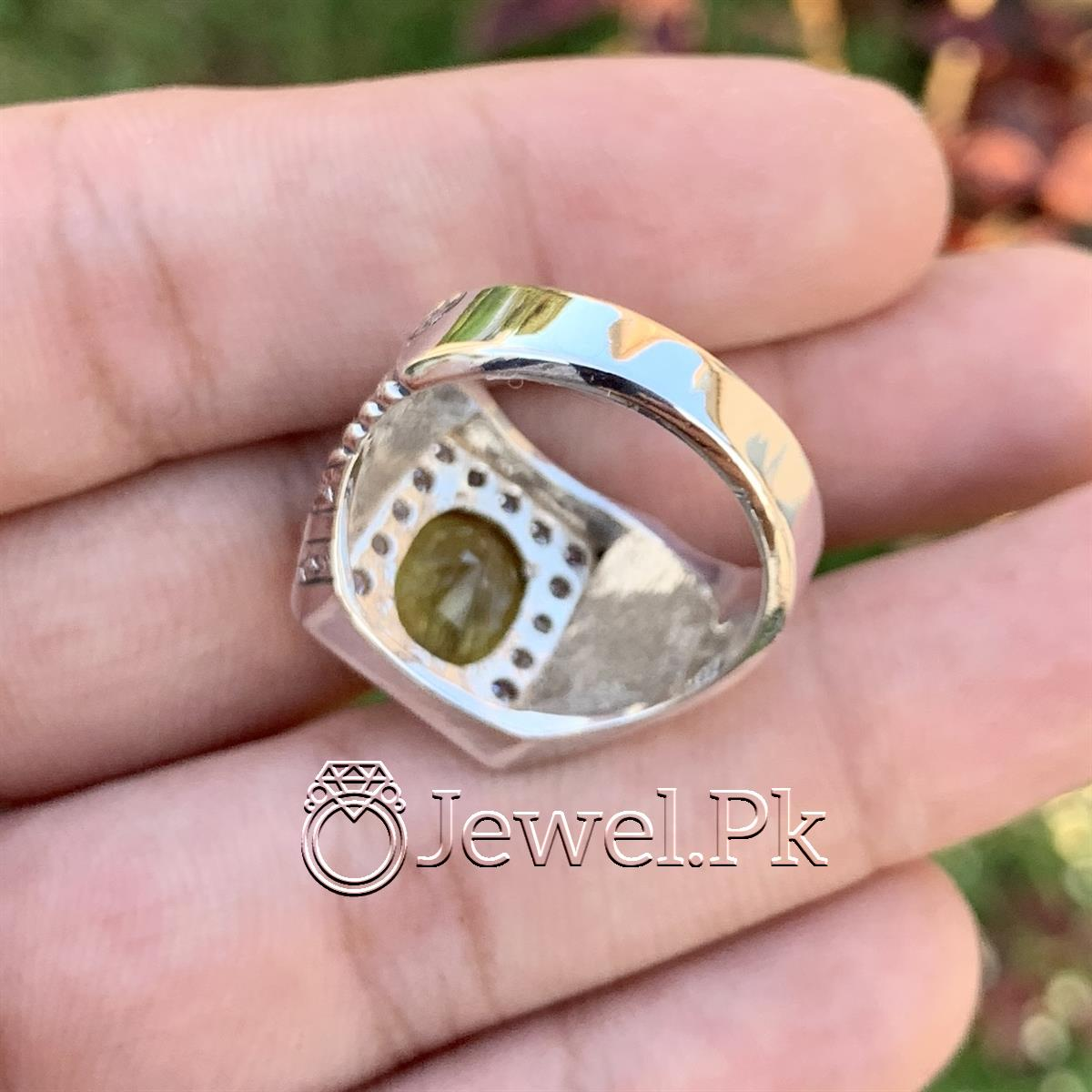 Natural Yellow Sapphire Ring Pukhraj Ring in Silver 925 6 natural gemstones pakistan + 925 silver jewelry online