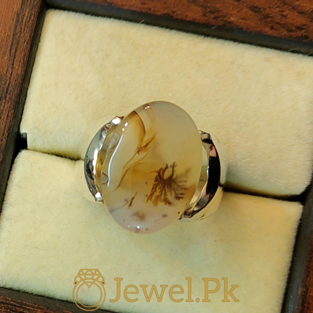 Natural Yemeni Agate Yamni Aqeeq Aiqi Haqiq ring 4 natural gemstones pakistan + 925 silver jewelry online